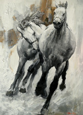 Go straight to the benchmark  H 48in. x W 30in. x D 1.5in.  Oil on canvas