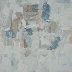 Pray To The Depths   H 36in. x W 48in. x D 1.5in.  Oil on canvas