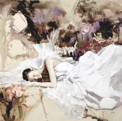 At The Feet Of Jesus   H 40in. x W 51in. x D 1.5in.   Oil on canvas