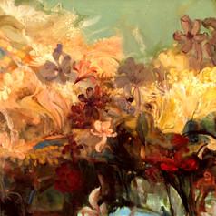 Garden Of Love  H 30in. x W 94in. x D 1.5in.    Oil on canvas