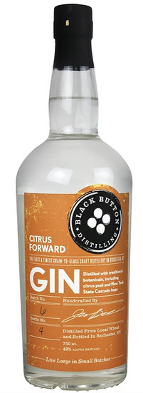 ブラック ボタン 柑橘 ジンー Black Button Citrus Gin 750ml