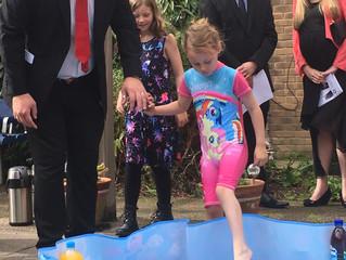 Making a splash: special outdoor Baptism