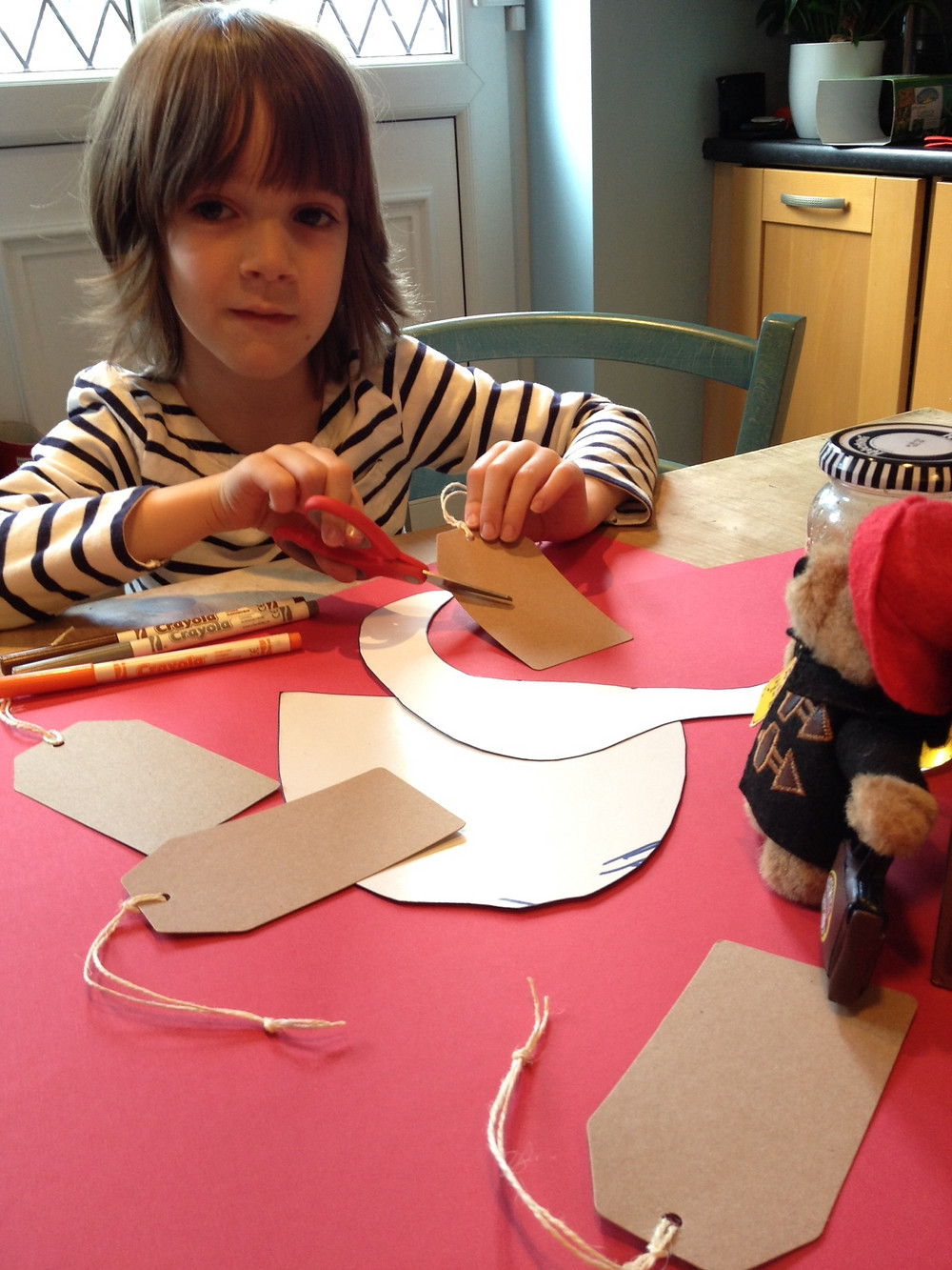 preparation of messy church crafts