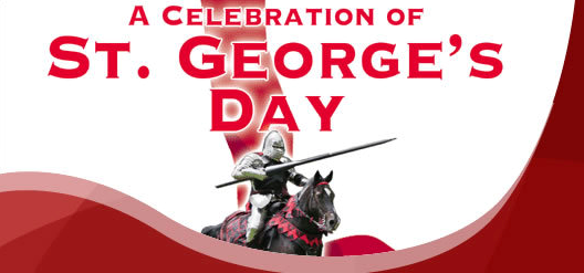a celebration of St George's Day, knight on horseback