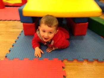 Child having fun playing