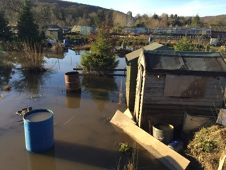 Photograph of recent flooding around Bingley area