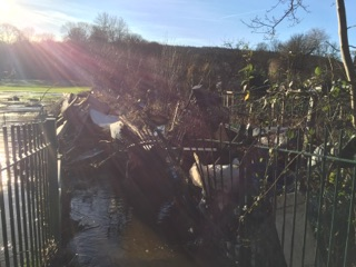 Photograph of recent flooding around Bingley area