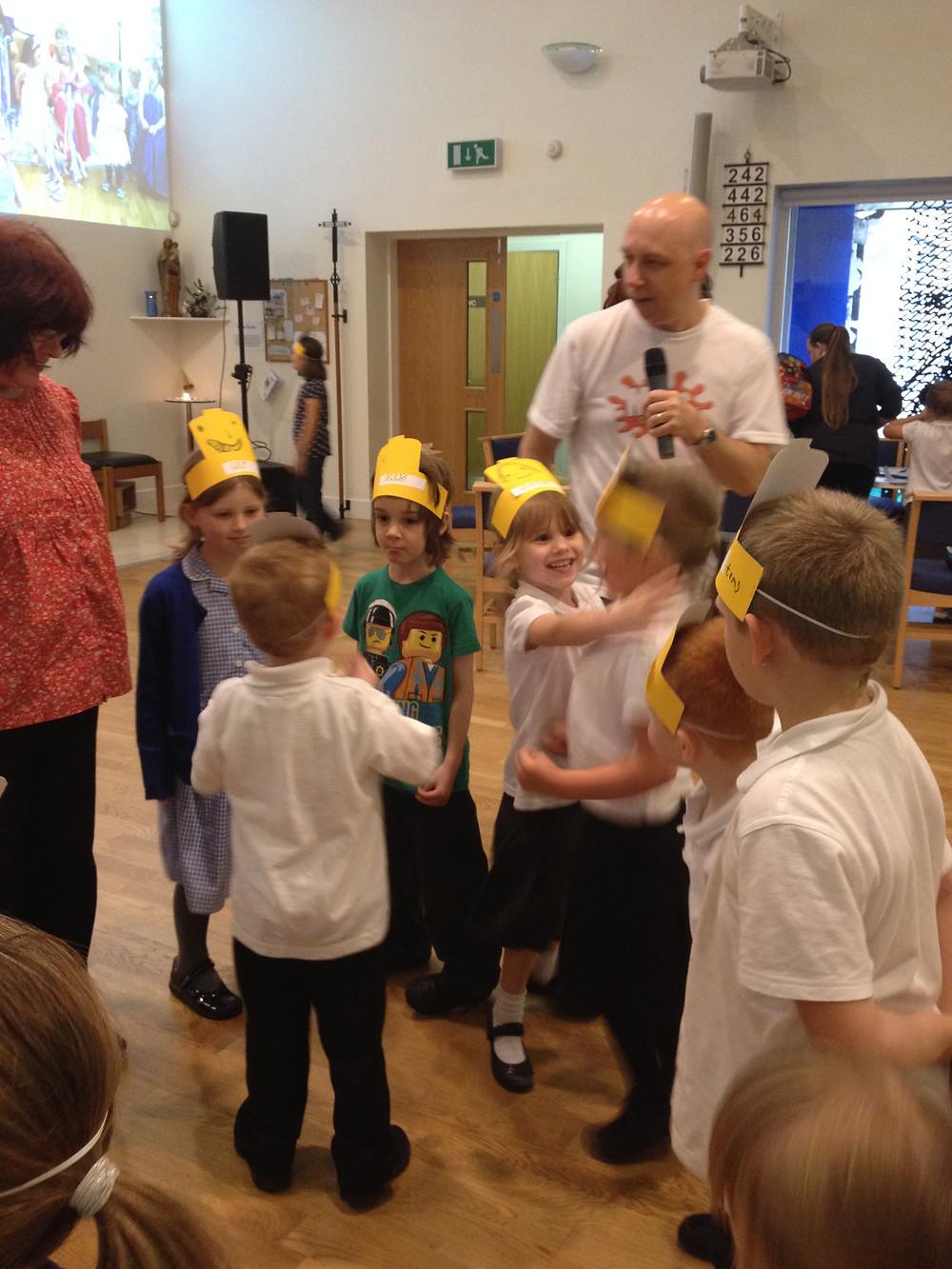 Children enjoying Messy Church