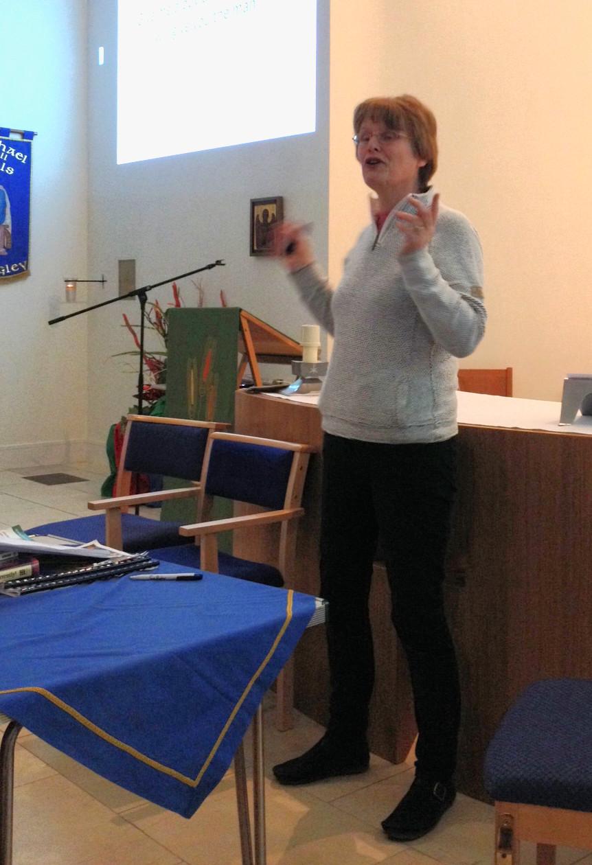 Jan giving talk