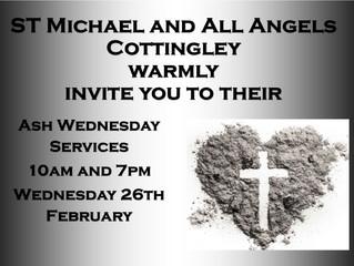 Ash Wednesday: 26 February 2020