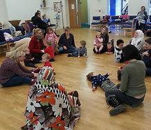 Singing during circle time at end of toddler group