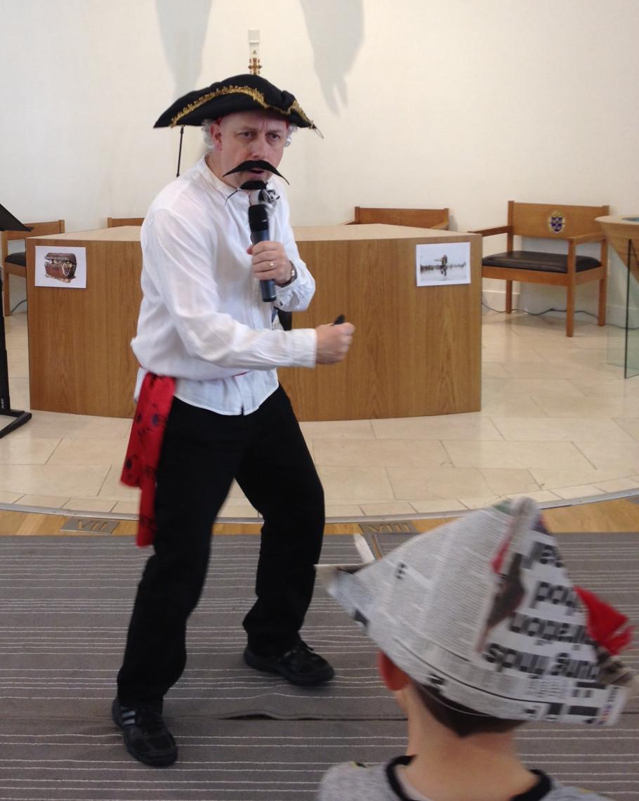 Rev'd Gary Hodgson dressed as a pirate