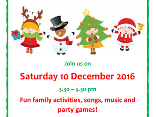 Come to our family Christmas Party