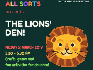 All Sorts: The Lions' Den: Friday 8 March