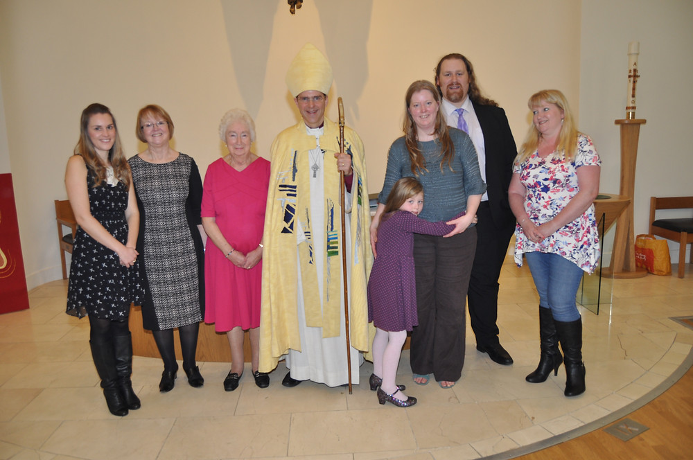 Bishop Toby with those who were confirmed