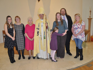 Bishop Toby leads Confirmation service
