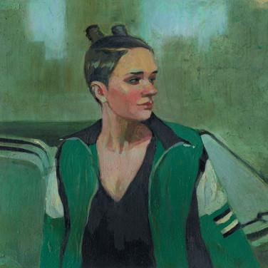 Девушка в зеленой куртке. 2017