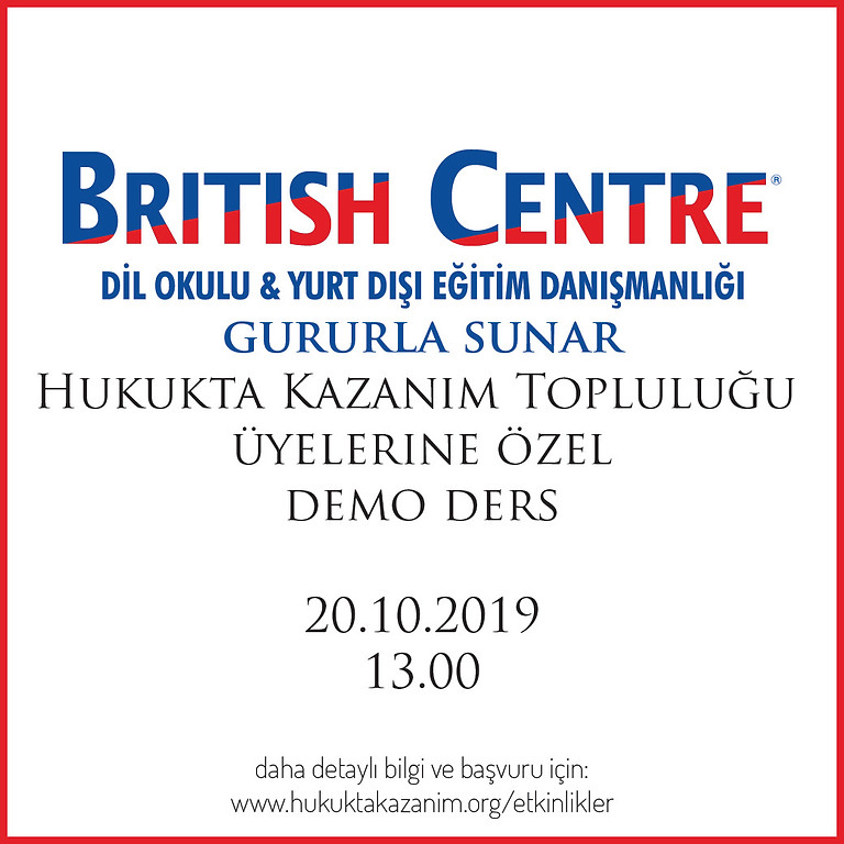 BRITISH CENTRE DEMO DERS
