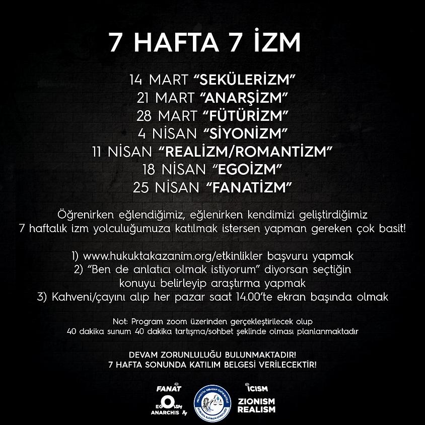 """""""7 HAFTA 7 İZM"""" İKİNCİ DÖNEM"""
