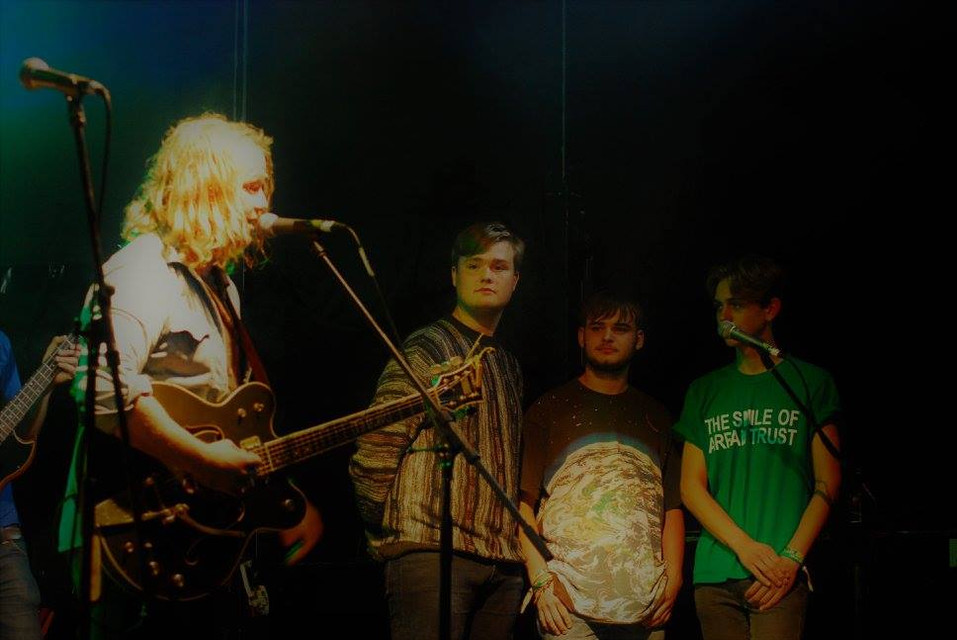 Matt Owens joined onstage by Arrans former bandmates