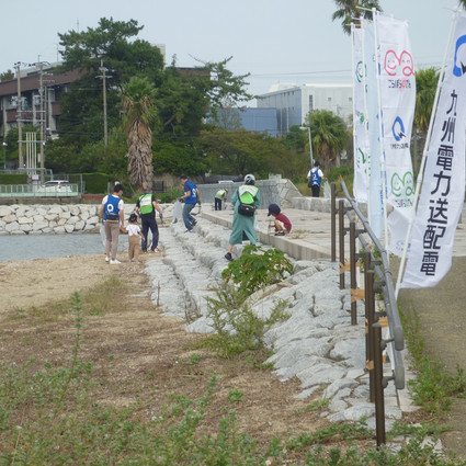 名島海岸清掃活動