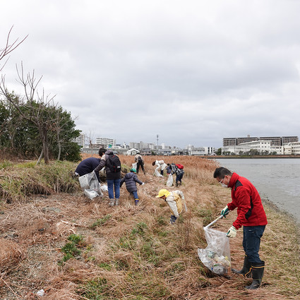 多々良川清掃活動