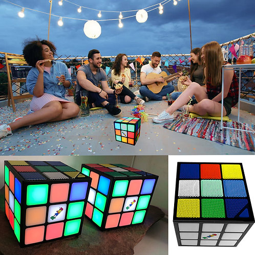 Rubik's Cube LED Light Up Bluetooth Speaker