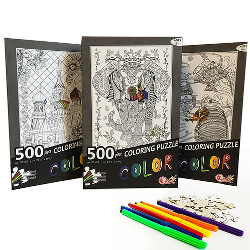 Toyzon 500 PC Coloring Puzzles