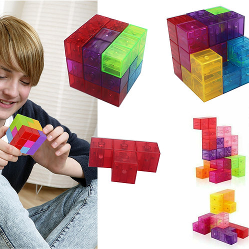 Toyzon 7 Piece STEM Educational Magnetic Cube