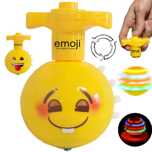 emoji LED Spinning Top w/  Beautiful Lights Patterns