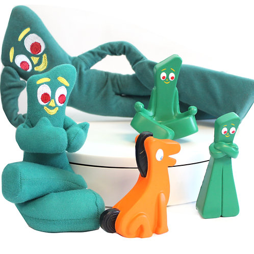 Gumby Poseable Plush and Squishies Bundle
