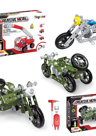 Creative Metal Build Your Own Vehicle Kits Perfect Stay at Home Toys