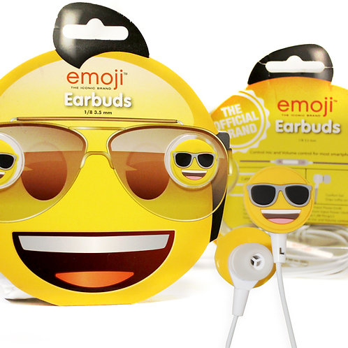 emoji Ear Buds Cool Smilie Face