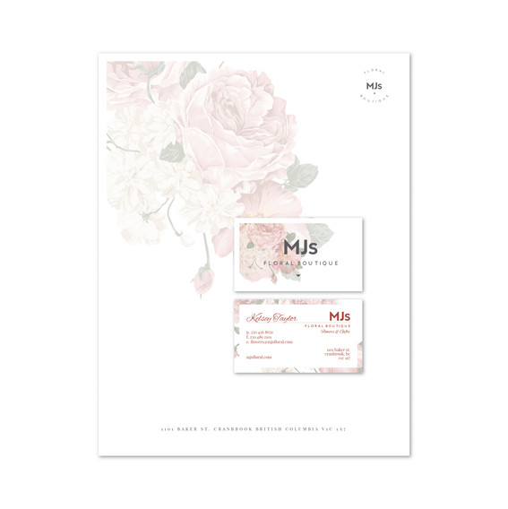 MJ's Floral Boutique Stationary