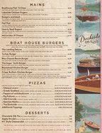 Dockside Menu