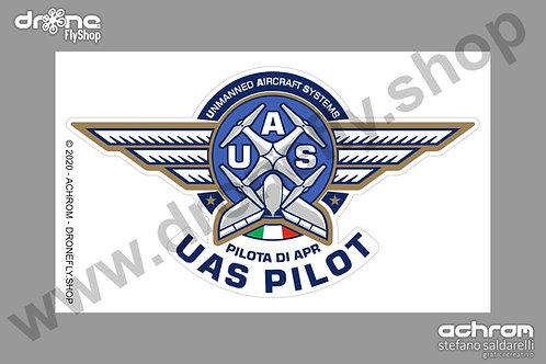 Sticker - adesivo UAS Pilot - Pilota di APR