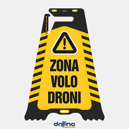 Cartello bifacciale Zona Volo Droni