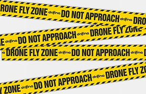 Drone fly zone do not approach