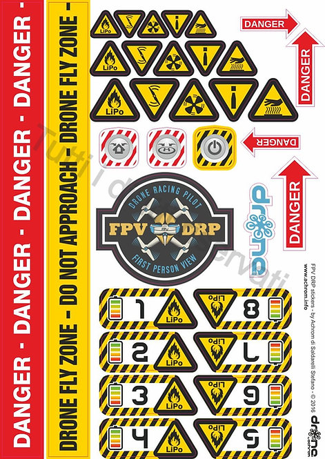 Stickers - adesivi FPV Drone Racing Pilot