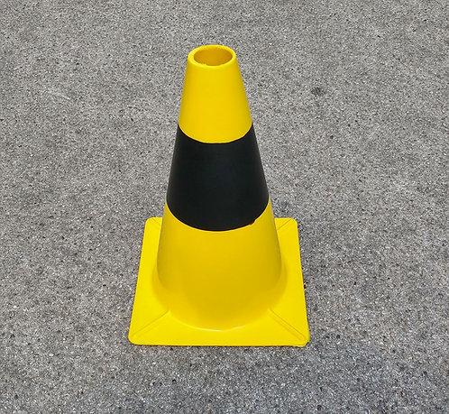 Cono segnaletico giallo-nero
