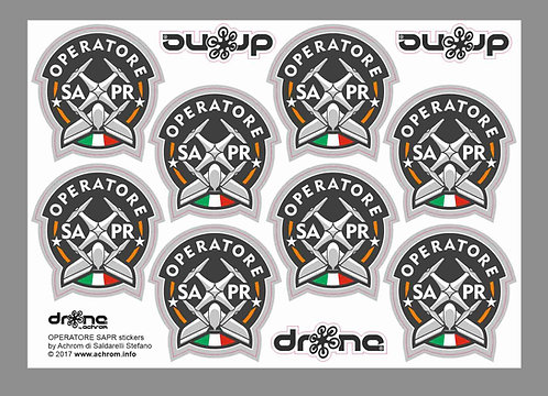 Stickers - adesivi OPERATORE SAPR