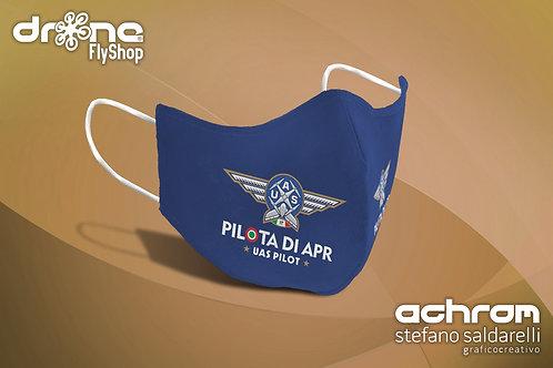 Kit 5/10 Mascherine PILOTA DI APR - UAS Pilot - Blu/Navy