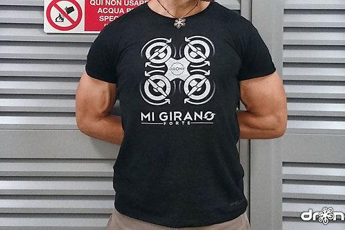 T-shirt - Mi girano forte - nera