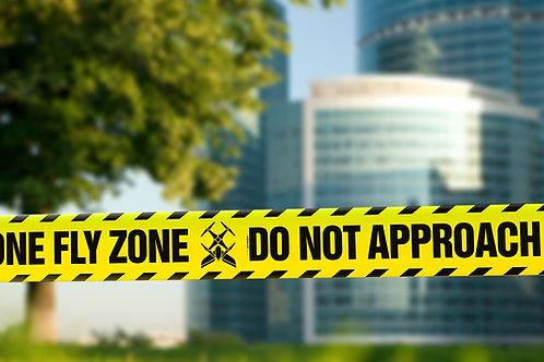 Nastro delimitante - Drone Fly Zone - Do Not Approach