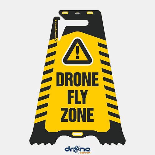 Cartello bifacciale Drone Fly Zone