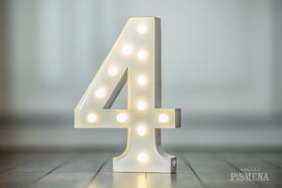 30cm svítící číslice 4
