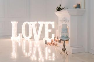 90cm svítící písmena LOVE