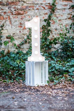 60cm svítící číslice 1