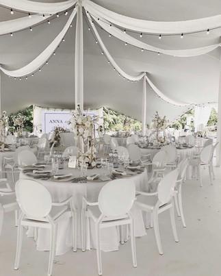 Led světelné řetezy k výzdobě svatebních stanů