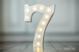 30cm svítící číslice 7